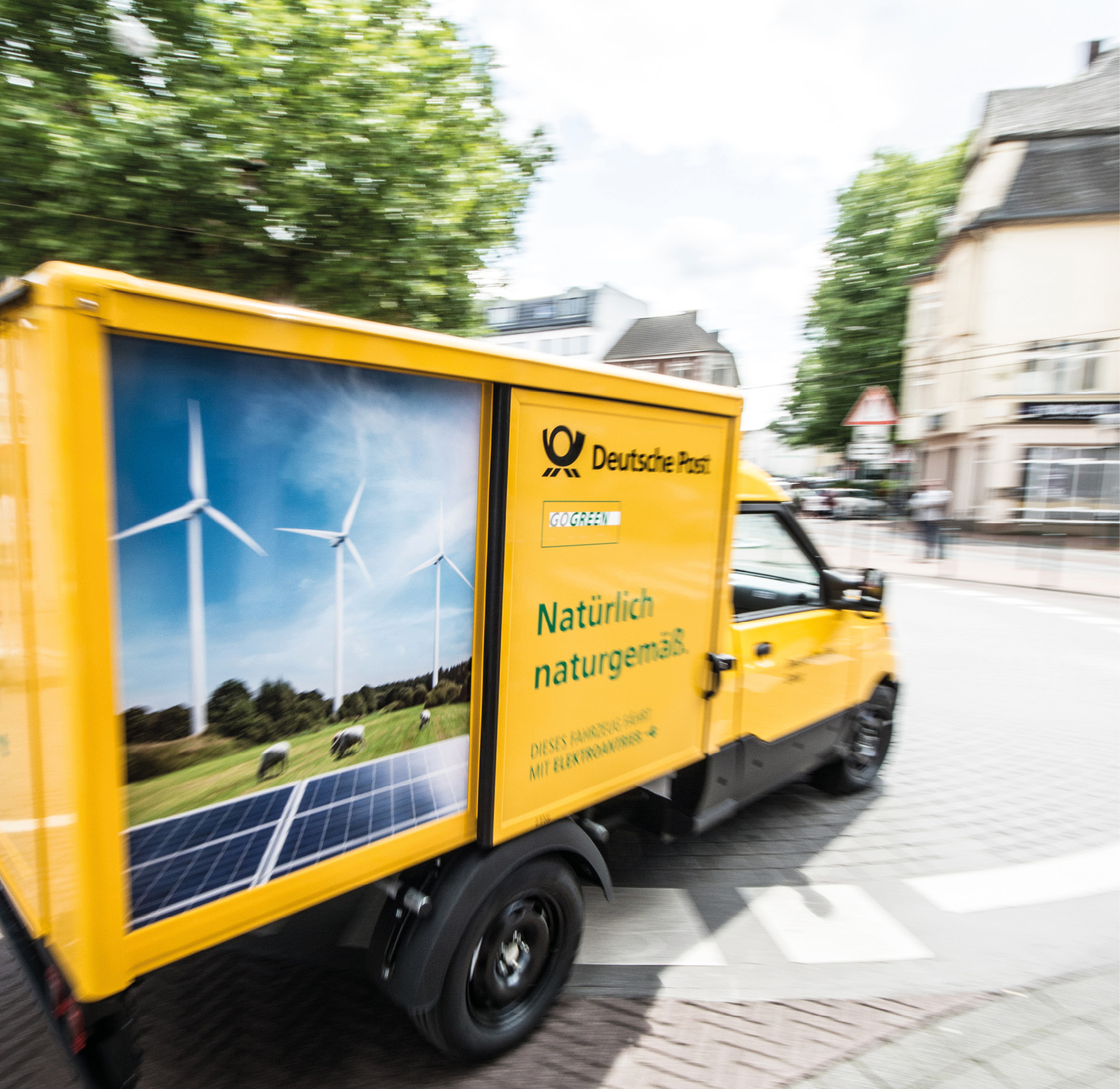 Electric vehicle of Deutsche Post DHL